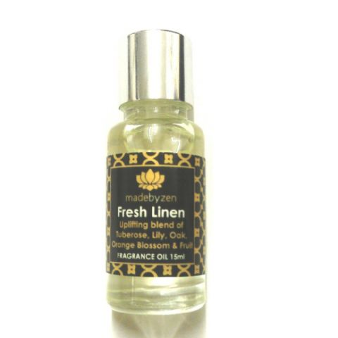 FRESH LINEN - Signature Scented Fragrance Oil Made By Zen 15ml